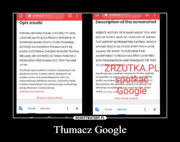 Tłumacz Google –