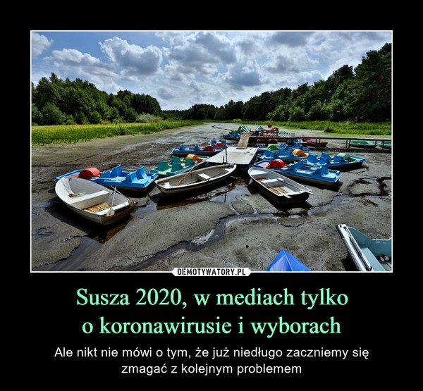 Susza 2020, w mediach tylkoo koronawirusie i wyborach – Ale nikt nie mówi o tym, że już niedługo zaczniemy sięzmagać z kolejnym problemem