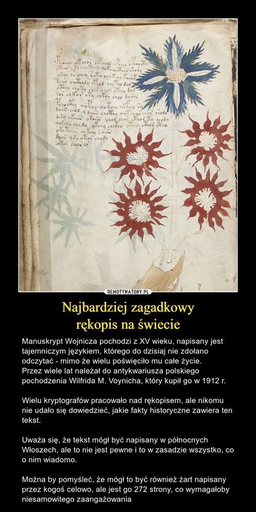 Najbardziej zagadkowy rękopis na świecie