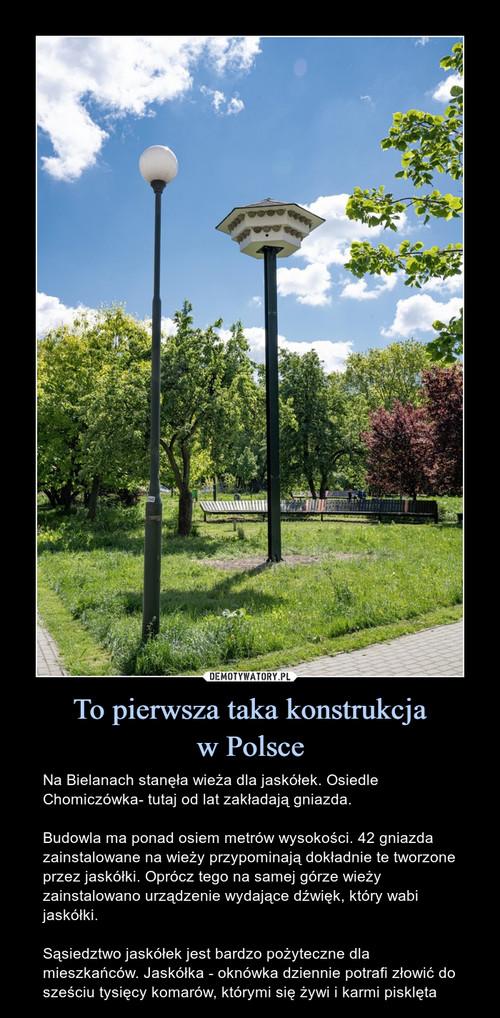 To pierwsza taka konstrukcja w Polsce