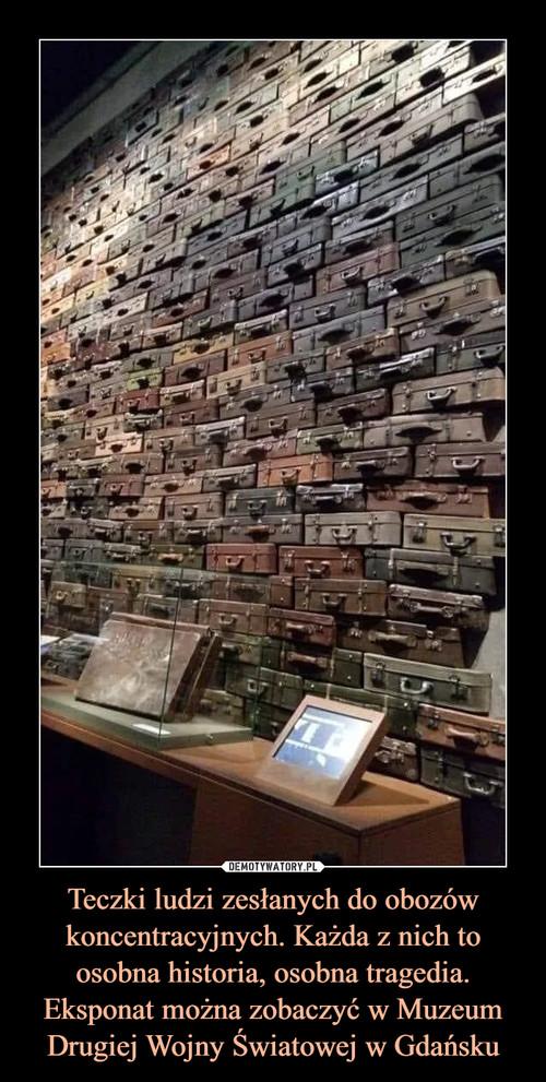 Teczki ludzi zesłanych do obozów koncentracyjnych. Każda z nich to osobna historia, osobna tragedia. Eksponat można zobaczyć w Muzeum Drugiej Wojny Światowej w Gdańsku