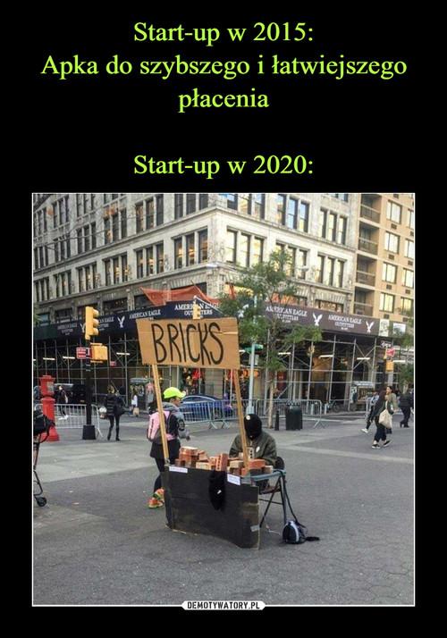 Start-up w 2015: Apka do szybszego i łatwiejszego płacenia  Start-up w 2020: