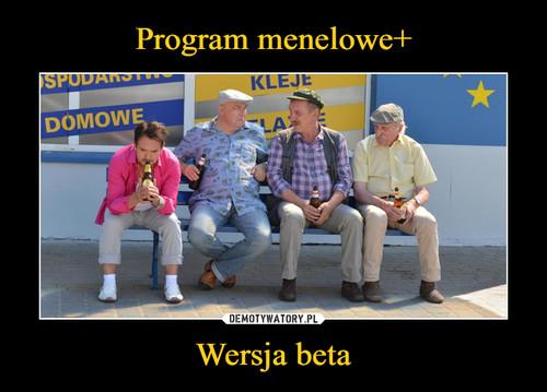 Program menelowe+ Wersja beta