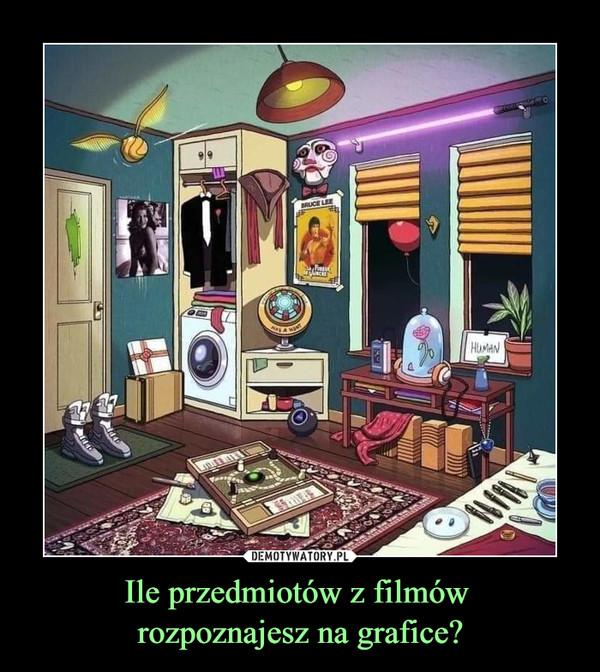 Ile przedmiotów z filmów rozpoznajesz na grafice? –
