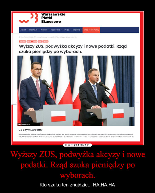 Wyższy ZUS, podwyżka akcyzy i nowe podatki. Rząd szuka pieniędzy po wyborach.