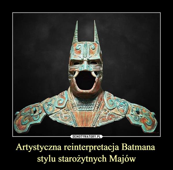 Artystyczna reinterpretacja Batmana stylu starożytnych Majów –
