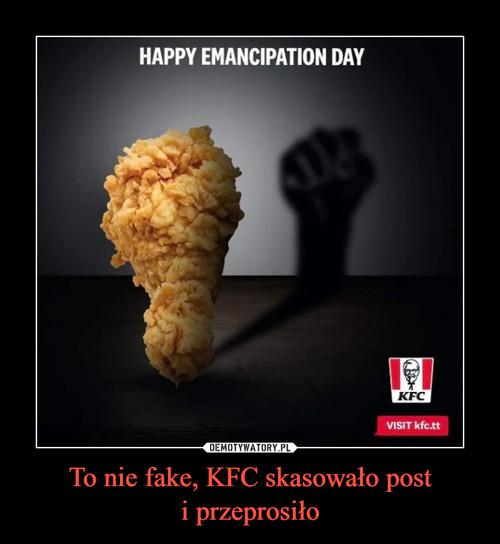 To nie fake, KFC skasowało post i przeprosiło