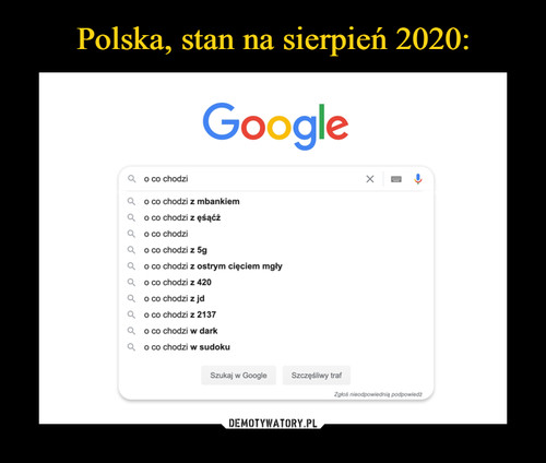 Polska, stan na sierpień 2020: