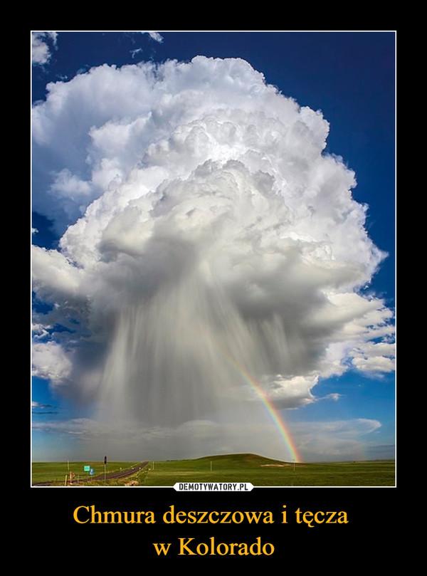 Chmura deszczowa i tęcza w Kolorado –