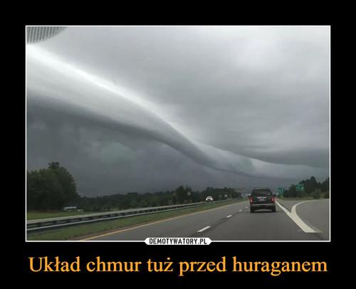 Układ chmur tuż przed huraganem