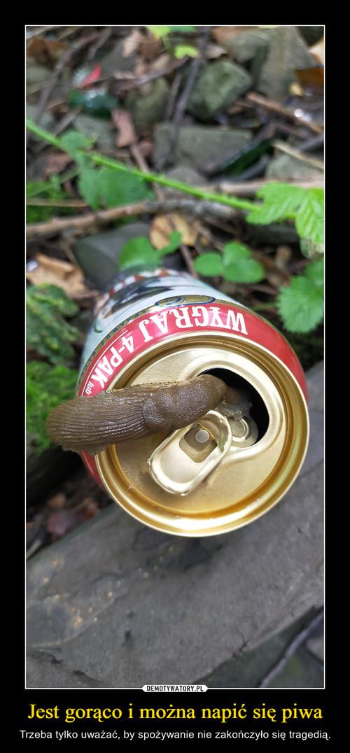 Jest gorąco i można napić się piwa