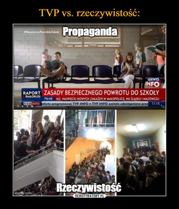 –  PropagandaZASADY BEZPIECZNEGO POWROTU DO SZKOŁYRzeczywistość