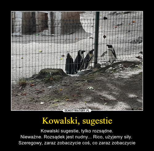 Kowalski, sugestie