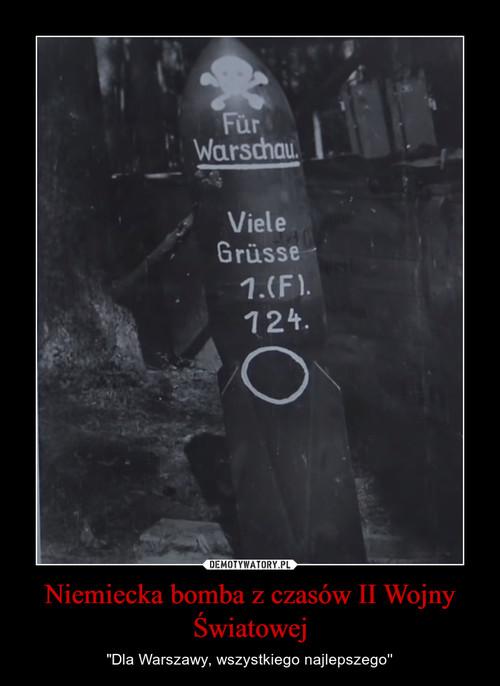 Niemiecka bomba z czasów II Wojny Światowej