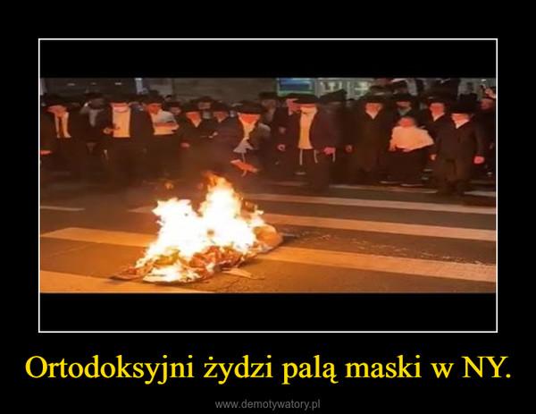 Ortodoksyjni żydzi palą maski w NY. –