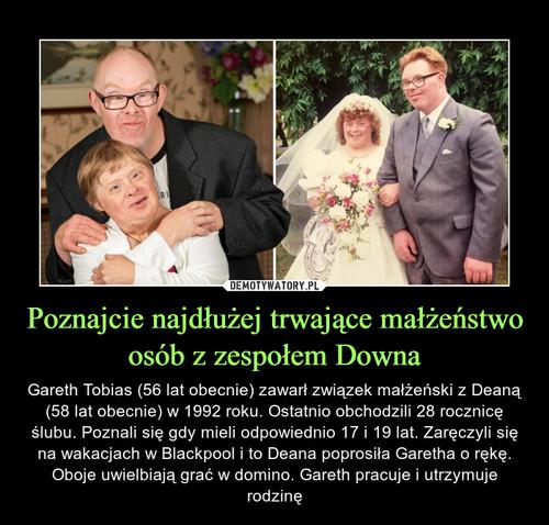 Poznajcie najdłużej trwające małżeństwo osób z zespołem Downa