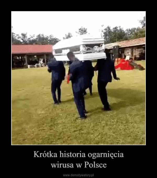 Krótka historia ogarnięciawirusa w Polsce –