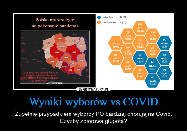 Wyniki wyborów vs COVID – Zupełnie przypadkiem wyborcy PO bardziej chorują na Covid. Czyżby zbiorowa głupota?