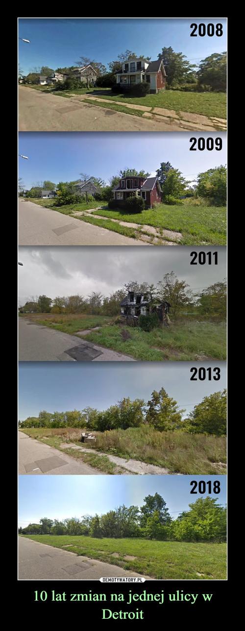 10 lat zmian na jednej ulicy w Detroit