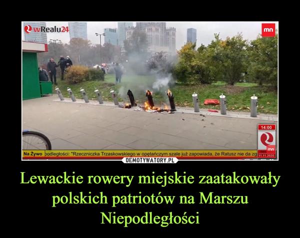 Lewackie rowery miejskie zaatakowały polskich patriotów na Marszu Niepodległości –