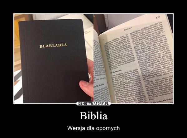 Biblia – Wersja dla opornych
