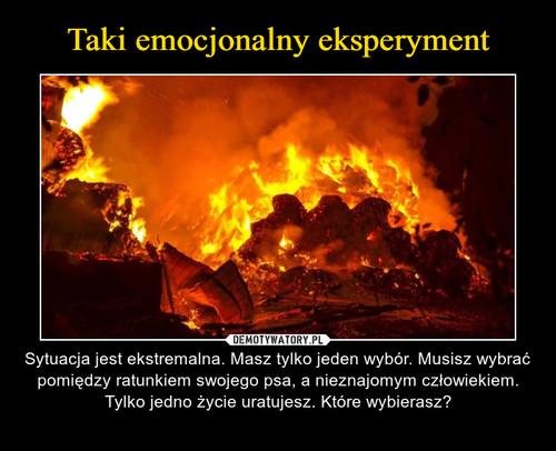 Taki emocjonalny eksperyment