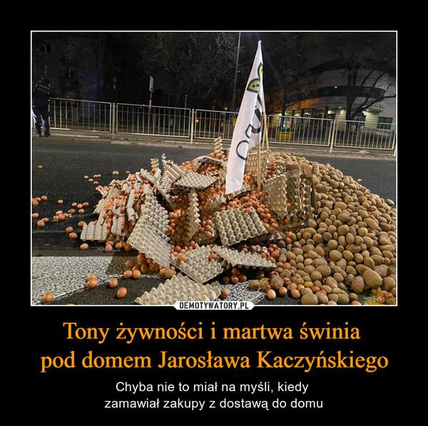 Tony żywności i martwa świnia pod domem Jarosława Kaczyńskiego – Chyba nie to miał na myśli, kiedy zamawiał zakupy z dostawą do domu