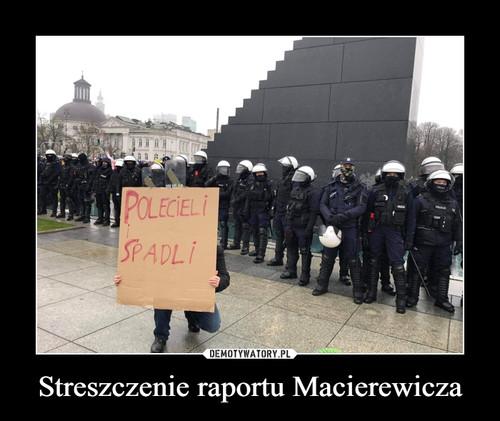 Streszczenie raportu Macierewicza