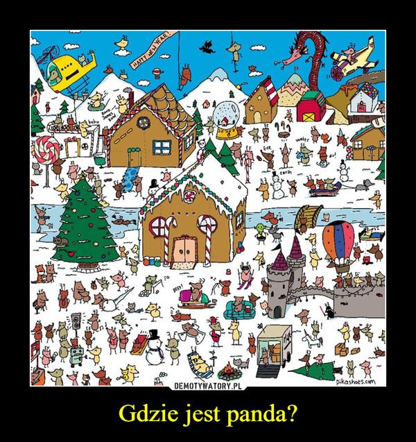 Gdzie jest panda? –