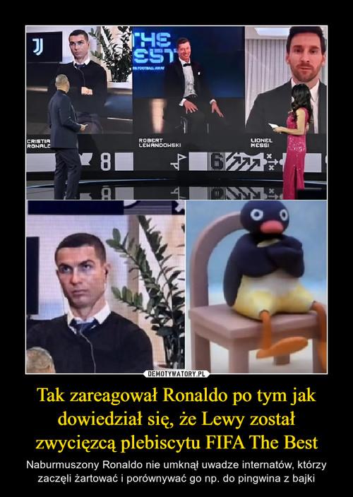 Tak zareagował Ronaldo po tym jak dowiedział się, że Lewy został zwycięzcą plebiscytu FIFA The Best
