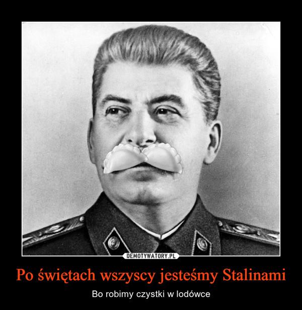 Po świętach wszyscy jesteśmy Stalinami – Bo robimy czystki w lodówce