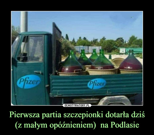 Pierwsza partia szczepionki dotarła dziś (z małym opóźnieniem)  na Podlasie