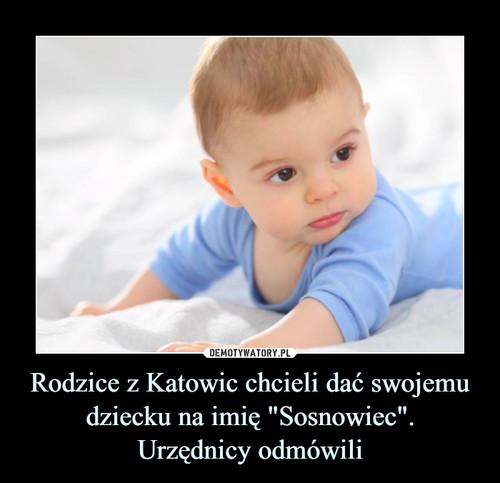 """Rodzice z Katowic chcieli dać swojemu dziecku na imię """"Sosnowiec"""". Urzędnicy odmówili"""