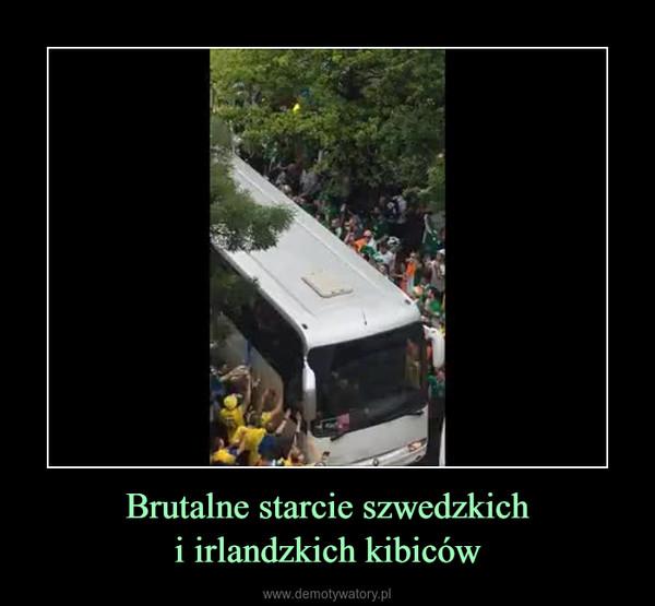 Brutalne starcie szwedzkichi irlandzkich kibiców –