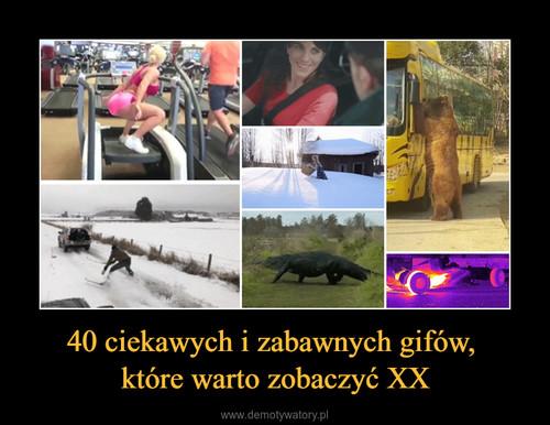 40 ciekawych i zabawnych gifów,  które warto zobaczyć XX