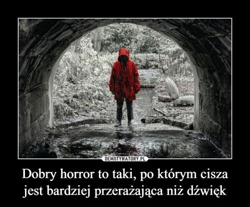 Dobry horror to taki, po którym cisza jest bardziej przerażająca niż dźwięk