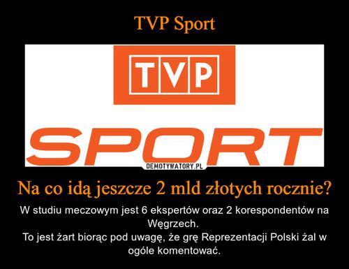 TVP Sport Na co idą jeszcze 2 mld złotych rocznie?