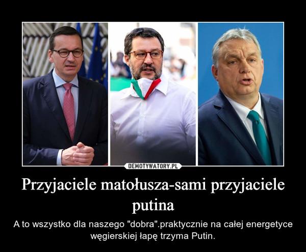 """Przyjaciele matołusza-sami przyjaciele putina – A to wszystko dla naszego """"dobra"""".praktycznie na całej energetyce węgierskiej łapę trzyma Putin."""