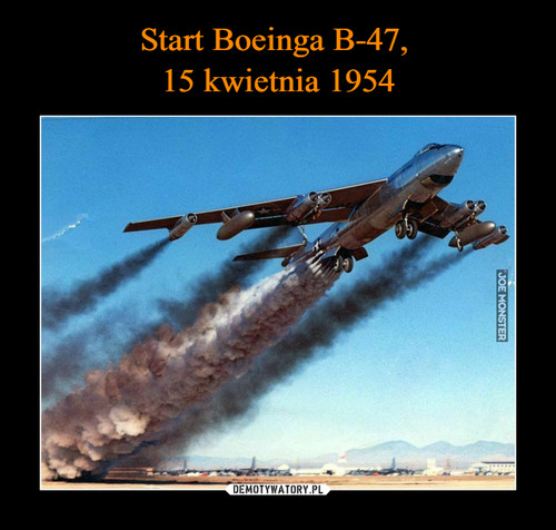 Start Boeinga B-47,  15 kwietnia 1954