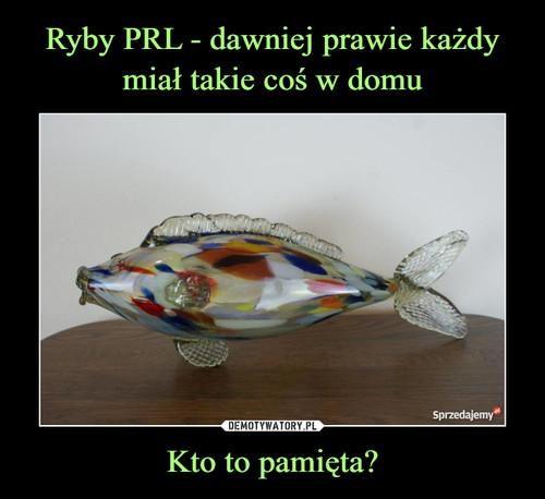 Ryby PRL - dawniej prawie każdy miał takie coś w domu Kto to pamięta?