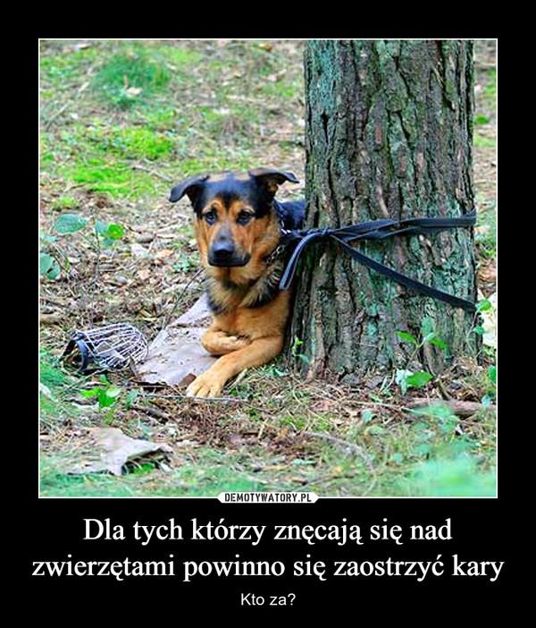 Dla tych którzy znęcają się nad zwierzętami powinno się zaostrzyć kary – Kto za?