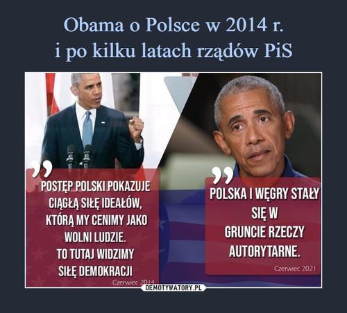 Obama o Polsce w 2014 r. i po kilku latach rządów PiS