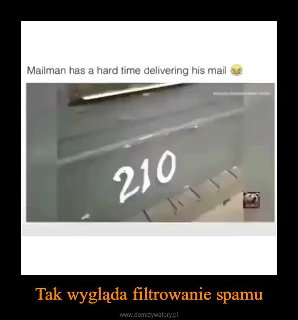 Tak wygląda filtrowanie spamu –