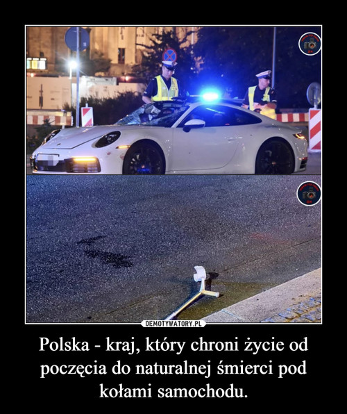 Polska - kraj, który chroni życie od poczęcia do naturalnej śmierci pod kołami samochodu.