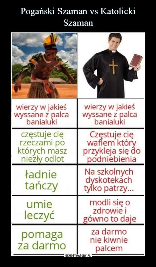 Pogański Szaman vs Katolicki Szaman