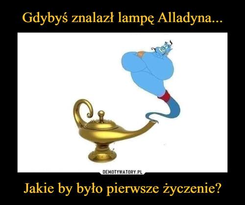 Gdybyś znalazł lampę Alladyna... Jakie by było pierwsze życzenie?