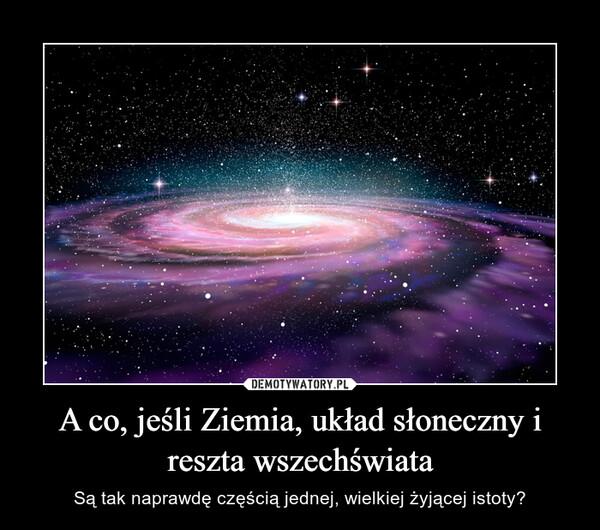 A co, jeśli Ziemia, układ słoneczny i reszta wszechświata – Są tak naprawdę częścią jednej, wielkiej żyjącej istoty?