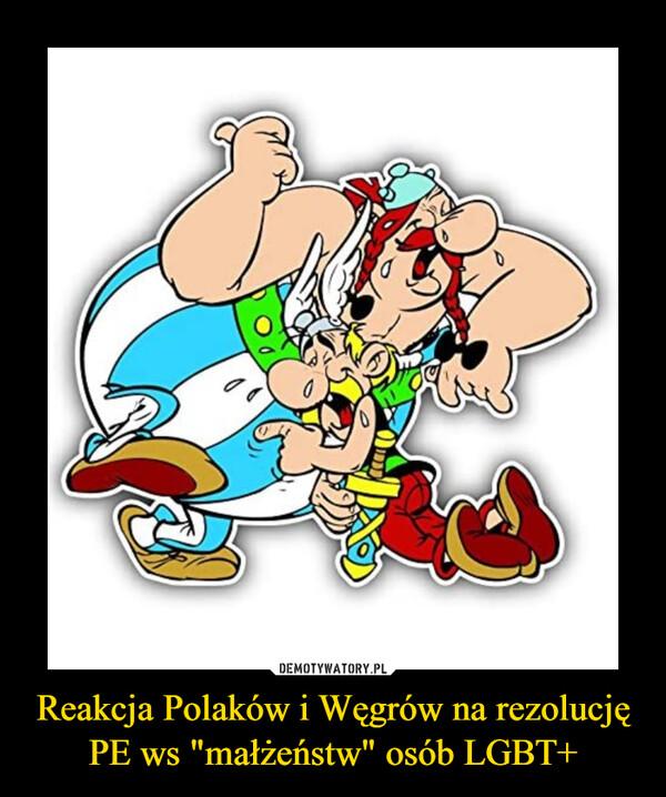 """Reakcja Polaków i Węgrów na rezolucję PE ws """"małżeństw"""" osób LGBT+ –"""