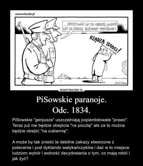 PiSowskie paranoje. Odc. 1834.