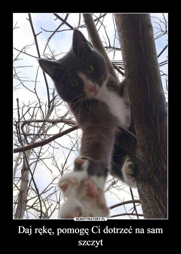 Daj rękę, pomogę Ci dotrzeć na sam szczyt –
